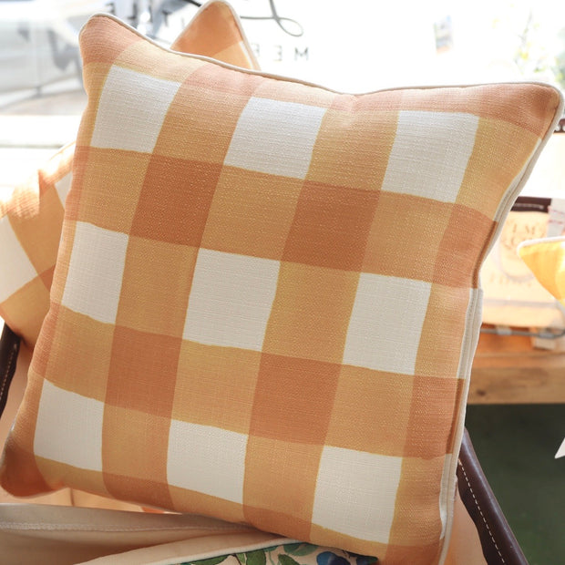 Orange Buffalo Check Pillow