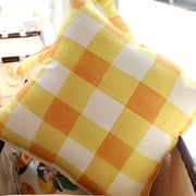 Yellow Buffalo Check Pillow