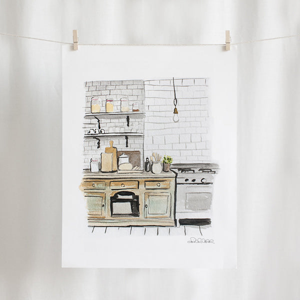 "Kitchen Watercolor (11"" X 14"")"