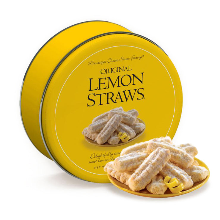 Mississippi Cheese Straw Factory Lemon Straw Gift Tin