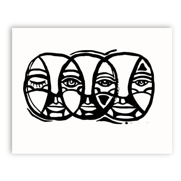 Adam Trest Faces | Trio Print
