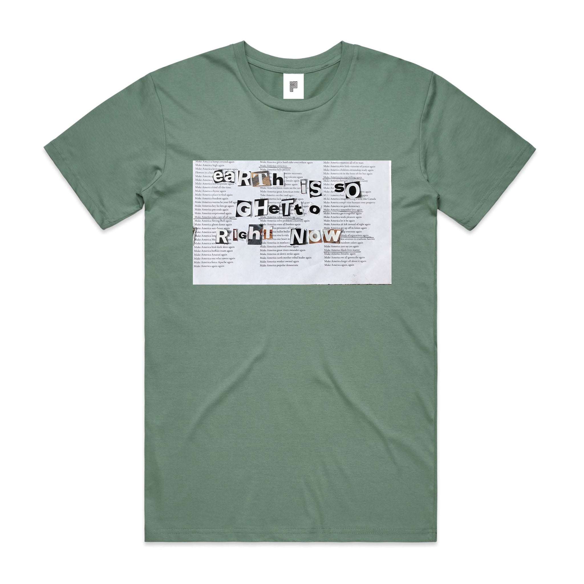 EARTH IS SO - BEATRICE DOMOND T-SHIRT [SAGE]