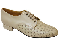 DSI 6424 Gibson Men's Wide Fit Beige Leather Ballroom Shoe