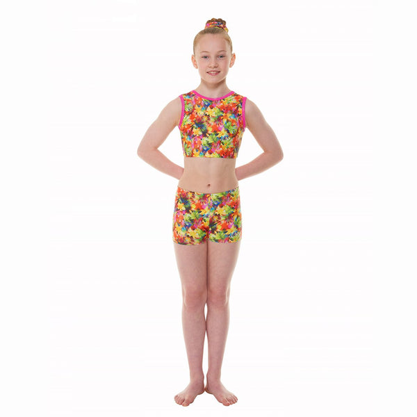 Tappers & Pointers Crop/Starburst Gymnastics Crop Top