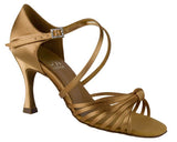DSI COPACABANA Tan Satin Regular Fit Ladies Latin Sandals