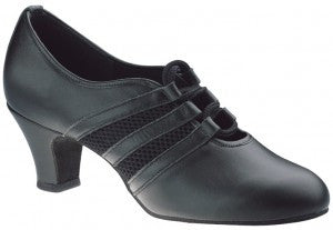 Freed VERONA Black Leather Ladies Practice Ballroom Shoe