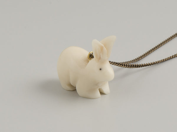 bunny rabbit - tagua pendant - ethical jewellery - just trade - easter gift