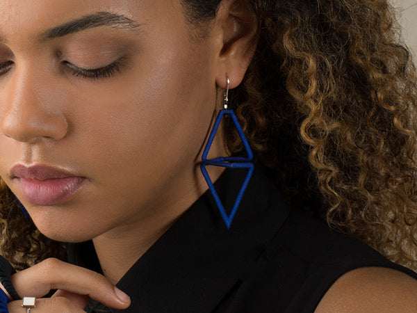 bold earrings - statement earrings - nylon earrings - innovative earrings - ss17 jewellery