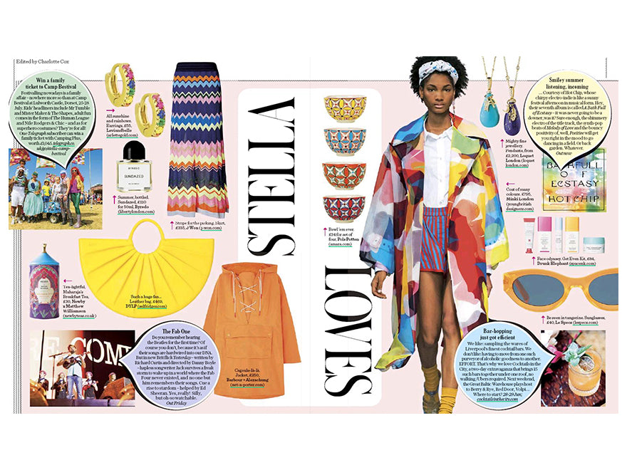 Arlette Gold spotted in The Sunday Telegraph Stella Magazine