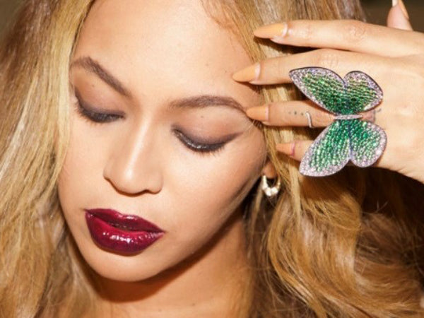 Beyonce gives Papillon butterfly ring to the V&A museum - jeweller Glen Spiro - butterfly jewellery