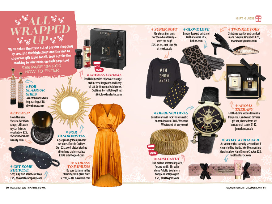 Arlette Gold spotted in Candis Magazine's All Wrapped Up Christmas Gift Guide