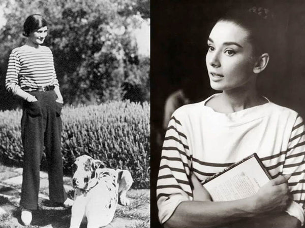 coco Chanel - Audrey Hepburn - the history of the Breton stripes