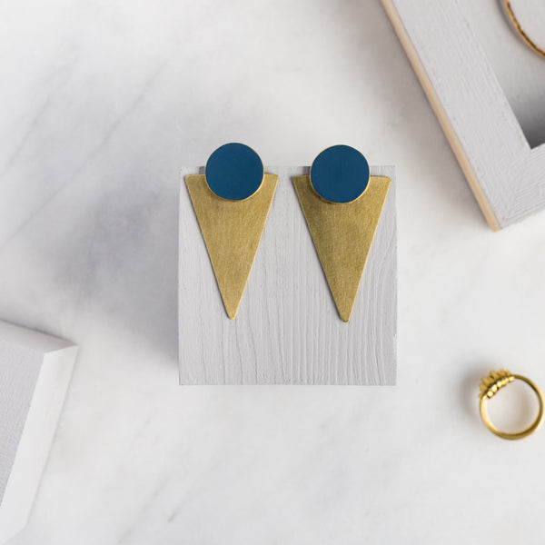 Coloured Brass Statement - Navy