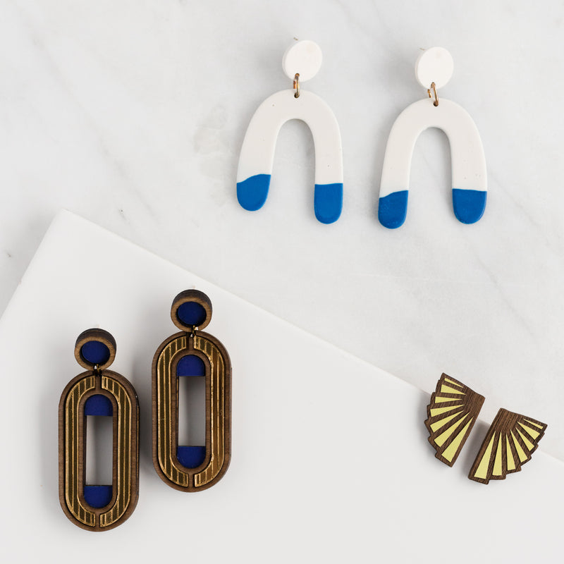 Lemon Eventail Earrings