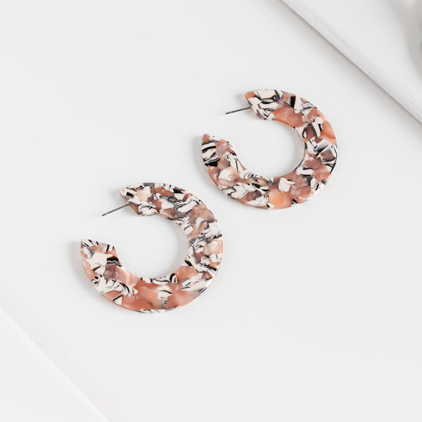 Ananda Earrings - Miami Rose