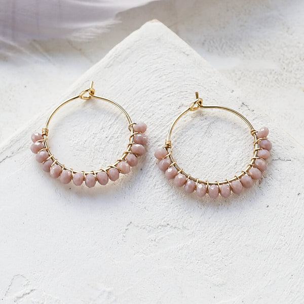 Viola Hoop Earrings - Powder - Earrings - Shlomit Ofir - Jewellery - Arlette Gold