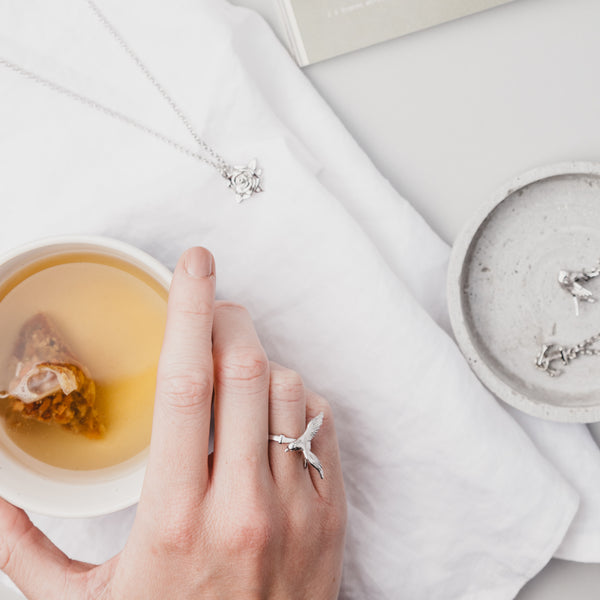 Silver Statement Swallow Ring
