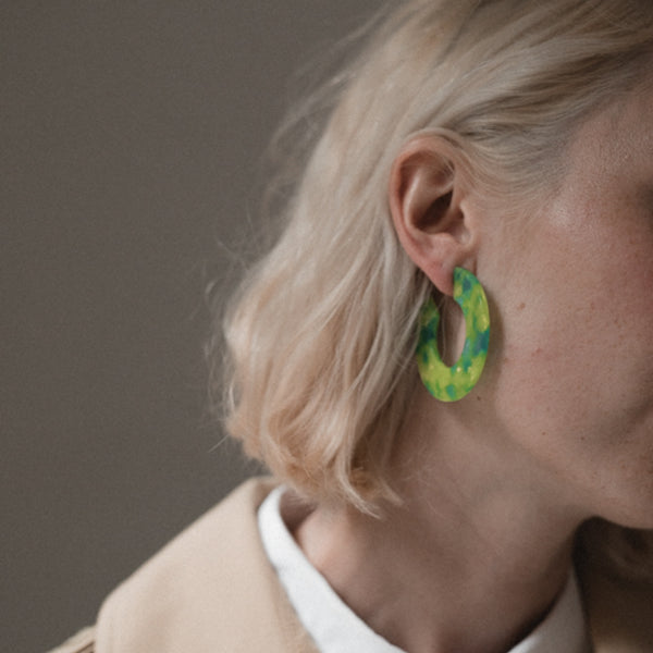 Ananda Earrings - Malibu Lime