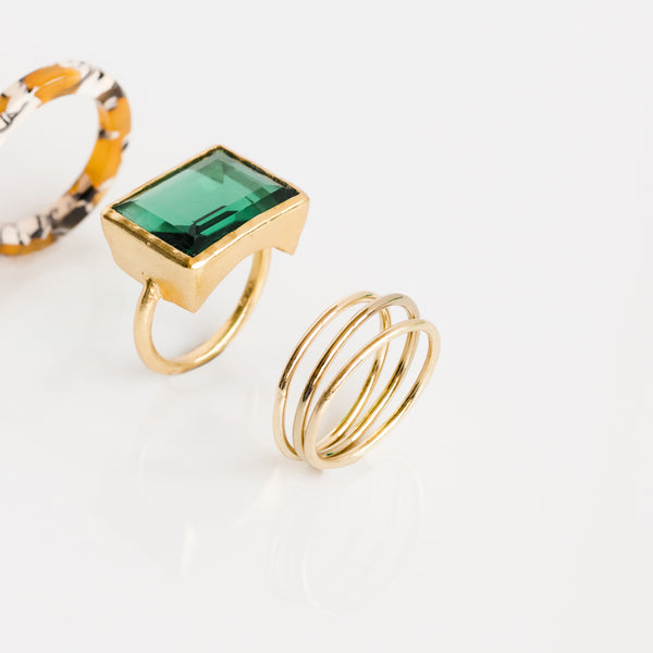 Gold Thin Stacking Rings