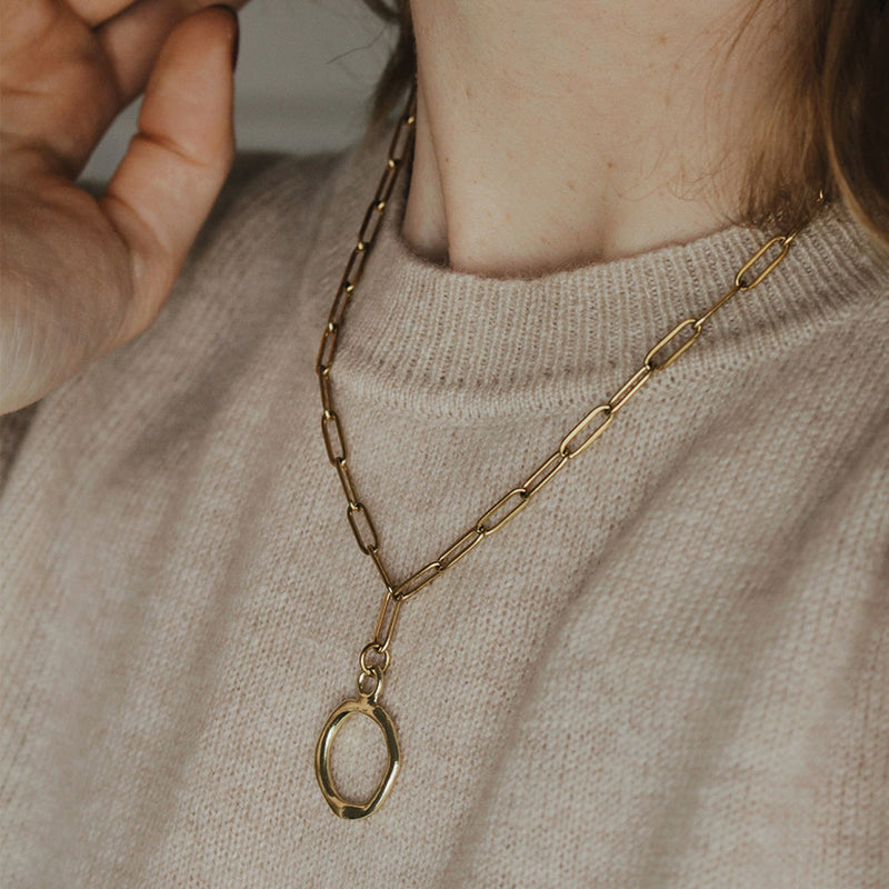 Gold Chunky Ember Necklace