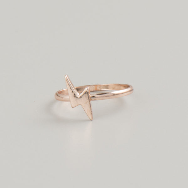 Rose Gold Lightning Strike Ring - Kids - Laviandbelle - Jewellery - Arlette Gold