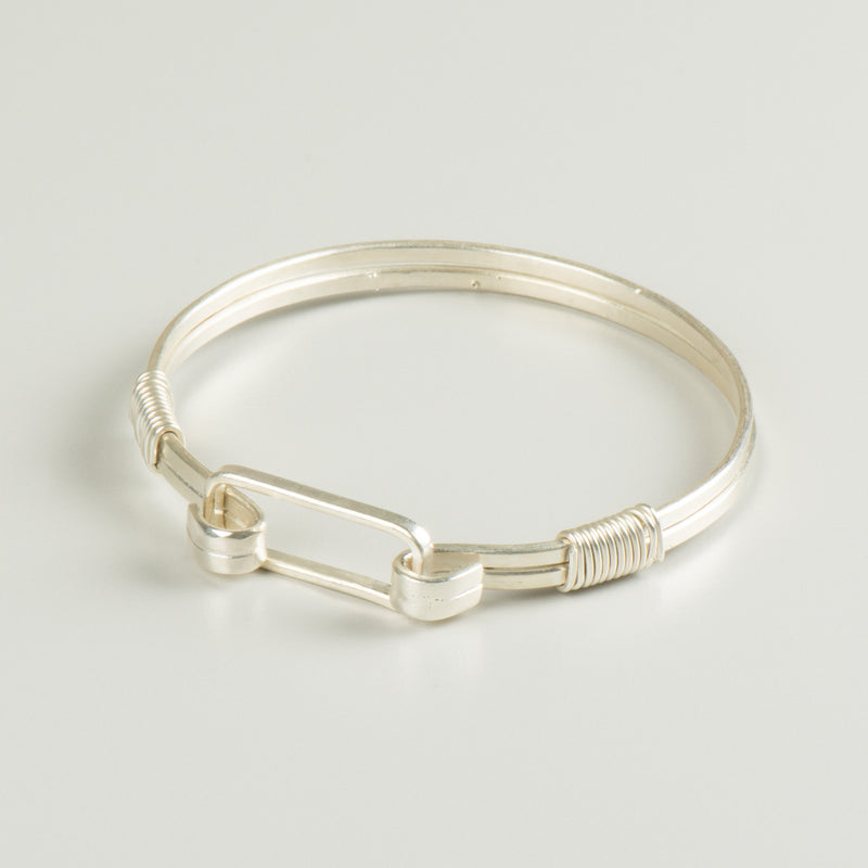 Clean Lines Bangle - Silver - Bracelet - MADE - Jewellery - Arlette Gold