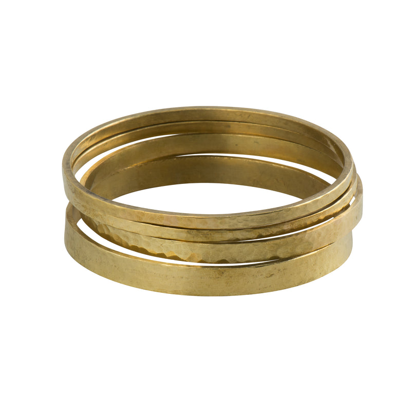 Brass Minimalist Stacking Bangles - Bracelet - MADE - Jewellery - Arlette Gold