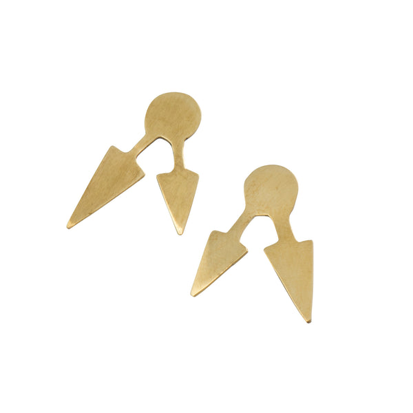 Pointed Stud Earrings - Earrings - MADE - Jewellery - Arlette Gold
