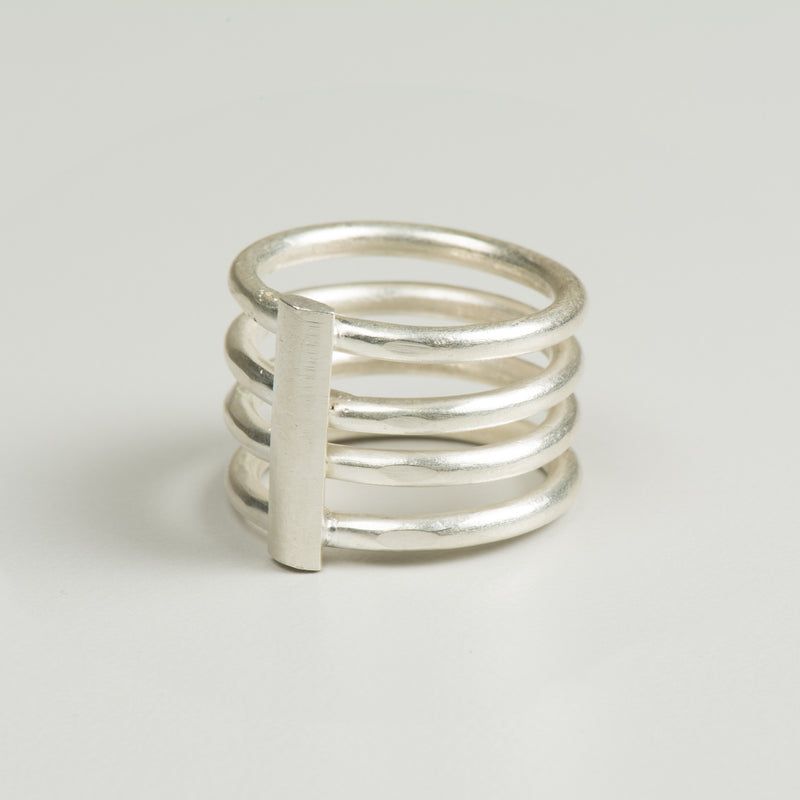 Silver Cage Ring - Ring - MADE - Jewellery - Arlette Gold