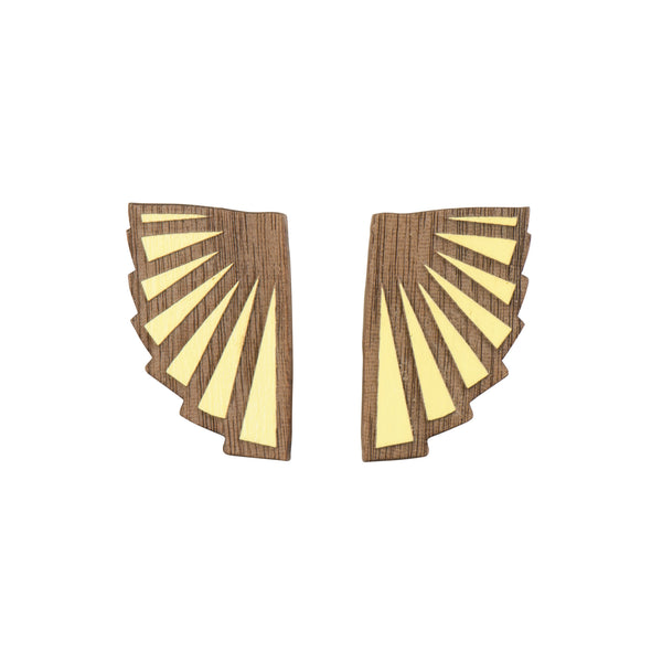 Lemon Eventail Earrings - Earrings - Materia Rica - Jewellery - Arlette Gold