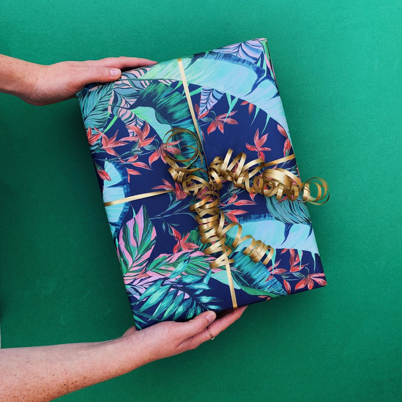 Maxmademedoit Dartmouth Tropical Wrap - Deep Ink