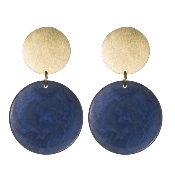Rachel Double Disk Studs - Earrings - Just Trade - Jewellery - Arlette Gold