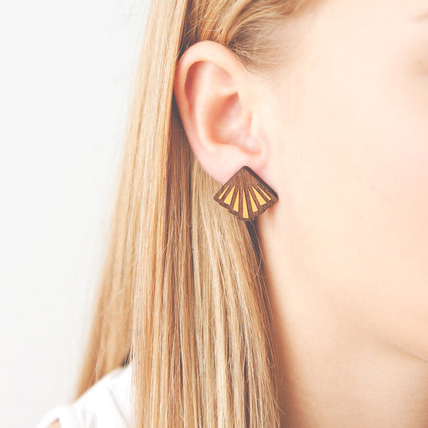 Lemon Rayon Earrings - Earrings - Materia Rica - Jewellery - Arlette Gold