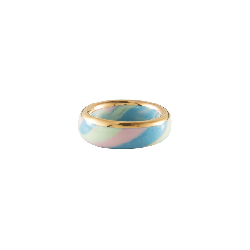 Ceramic Bling Ring - Blue Mint Pink