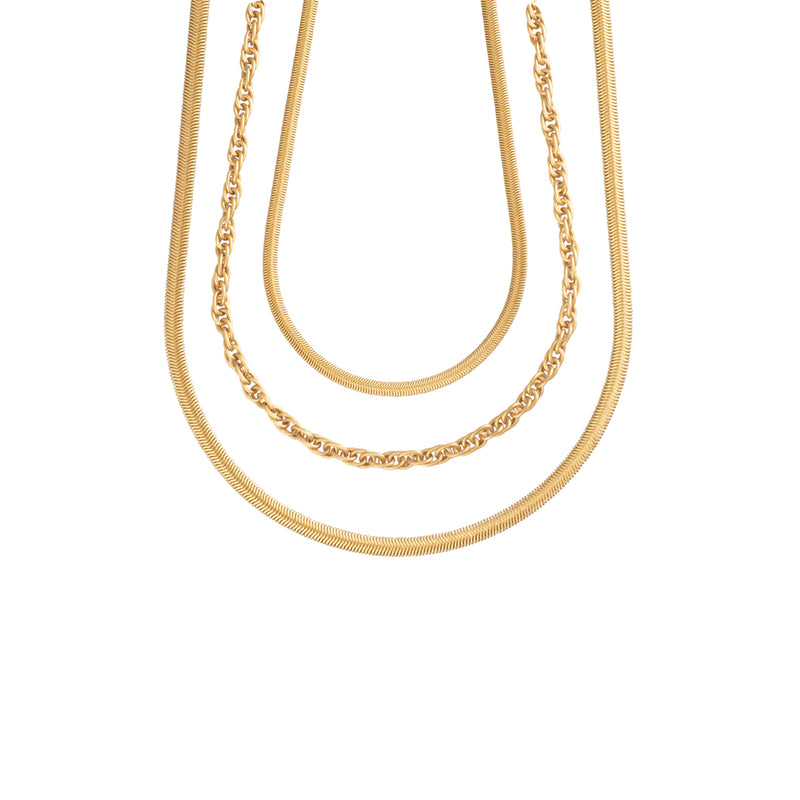 25 inch Double Twist Necklace - Antique Gold - Necklace - Sarah Cavender - Jewellery - Arlette Gold