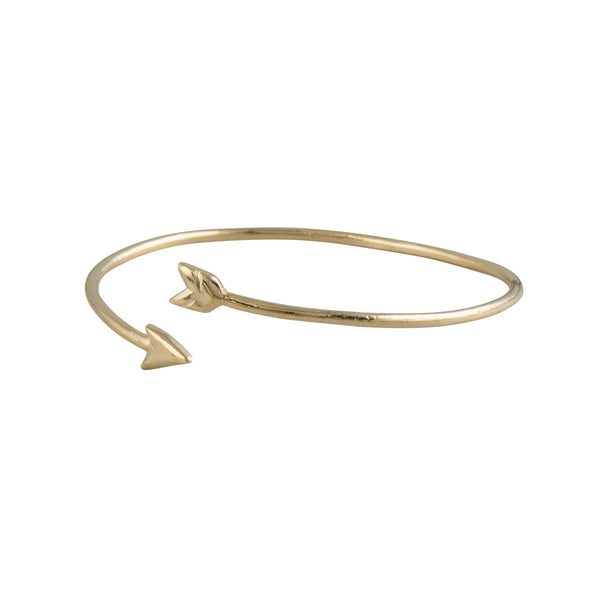 Gold Open Hunter's Arrow Bracelet - Bracelet - Shlomit Ofir - Jewellery - Arlette Gold
