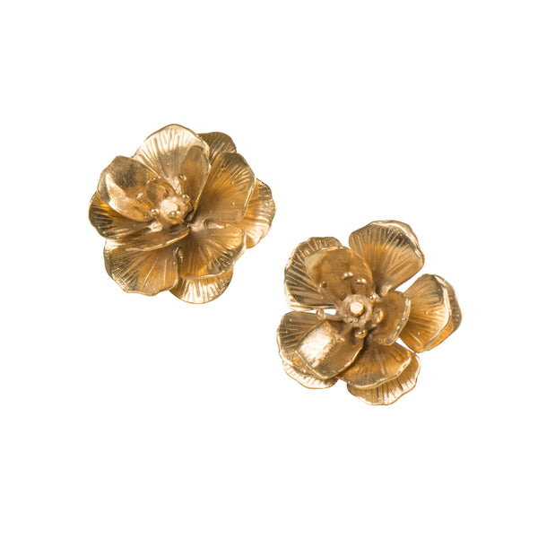 3D Flower Earrings - Earrings - Sara Chyan - Jewellery - Arlette Gold