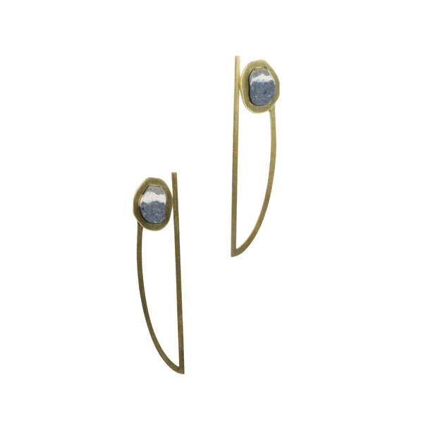 Alnet Earrings Brass Ink - Earrings - Promises Promises - Jewellery - Arlette Gold