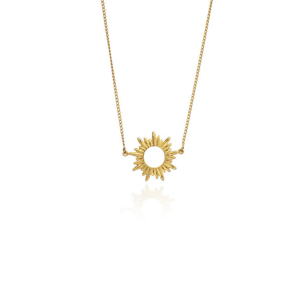 Gold Goddess Mini Sun Necklace - Necklace - Rachel Jackson - Jewellery - Arlette Gold