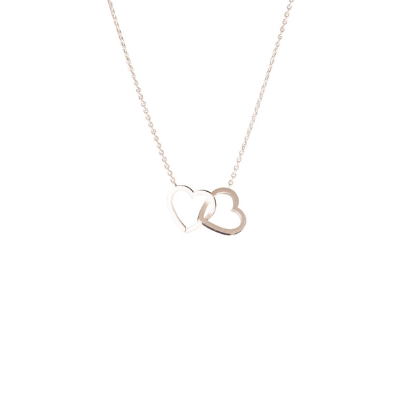 Silver Double Hearts Necklace