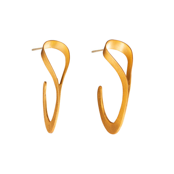Bronze Flat Hoop Earrings