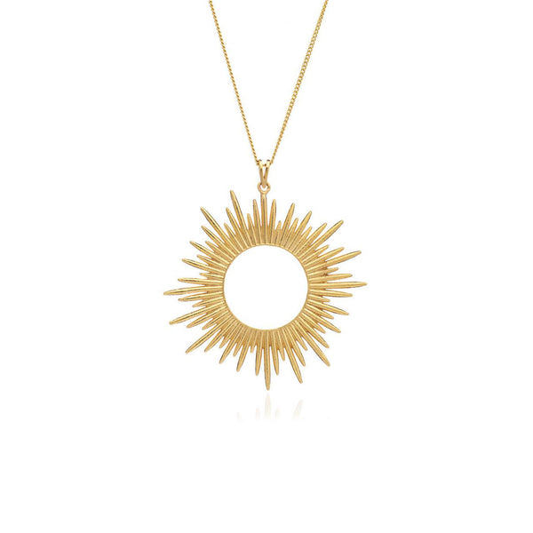 Gold Electric Goddess Statement Sun Necklace - Necklace - Rachel Jackson - Jewellery - Arlette Gold