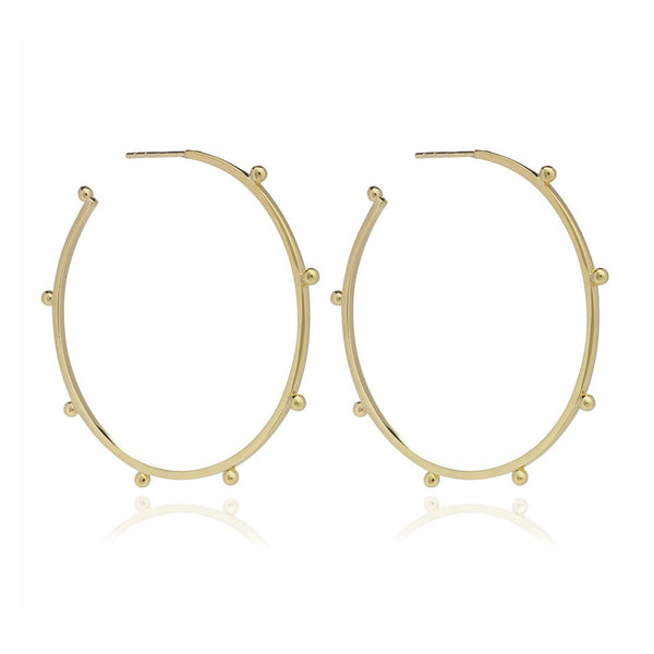 Gold Large Punk Hoop Earrings - Earrings - Rachel Jackson - Jewellery - Arlette Gold