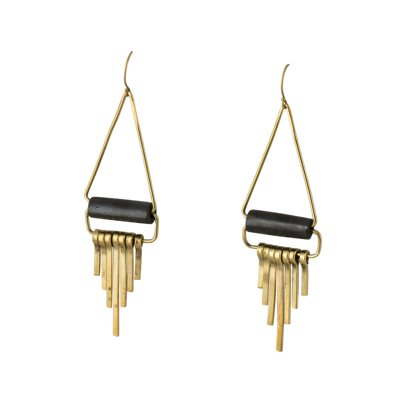 Brass Mod Fringe Earrings - Earrings - MADE - Jewellery - Arlette Gold