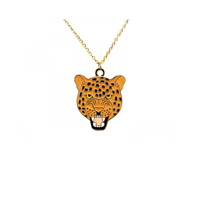 Roaring Leopard Necklace - Kids - Acorn and Will - Jewellery - Arlette Gold