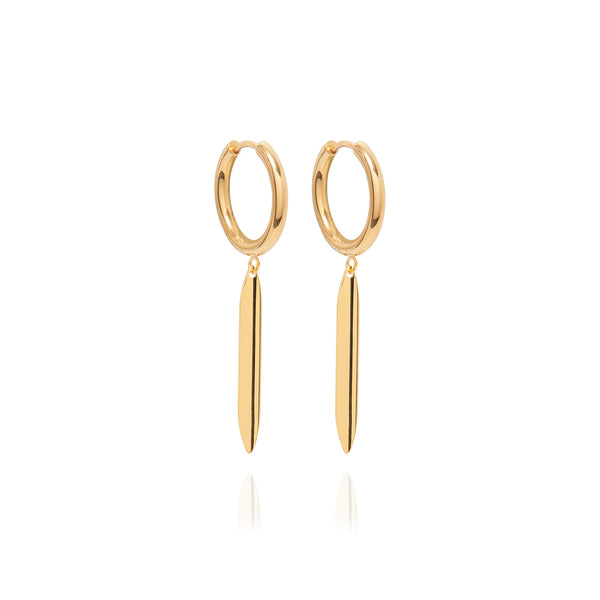 Gold Patti Hoops