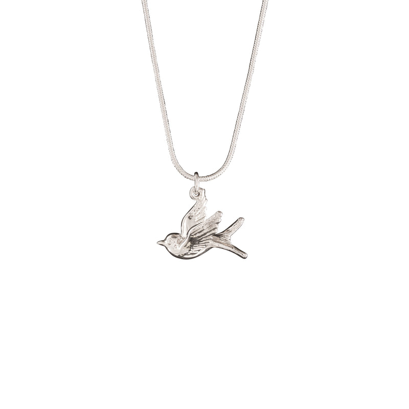 Silver Swallow Necklace
