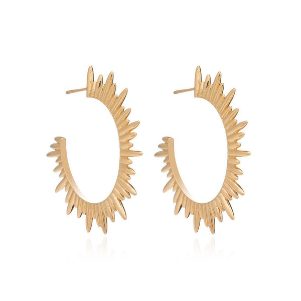 Gold Electric Goddess Hoops - Earrings - Rachel Jackson - Jewellery - Arlette Gold