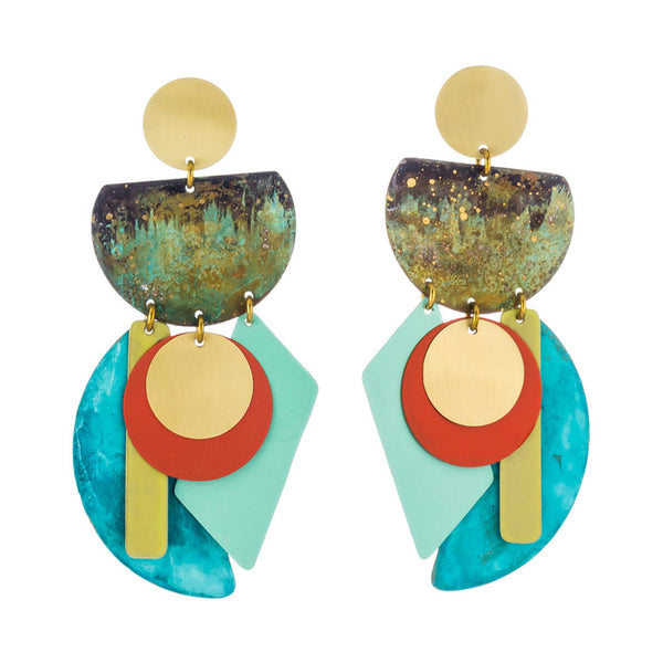 Good Fortune Earrings Papaya Mint