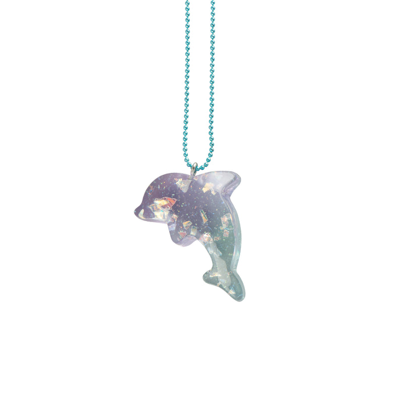Blue Pastel Dolphin Necklace - Kids - Pop Cutie - Jewellery - Arlette Gold